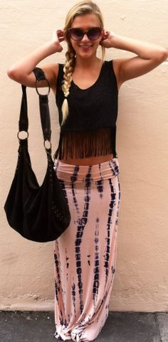 Pink Dalia Maxi Skirt
