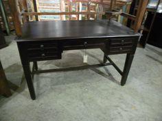 "Five Drawer Desk  WT035 - $362  52.5""W x 29.25""D x 31.5""H  #NadeauNashville"