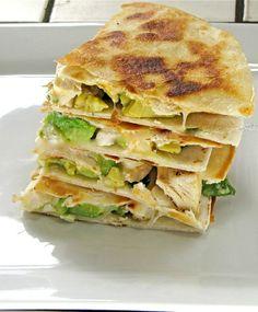 Avocado Chicken Quesadillas from MIssinthekithchen.com