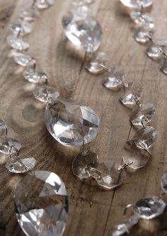 hanging crystal strands