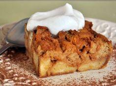 Pumpkin Bread Pudding #pumpkinpie #thanksgiving