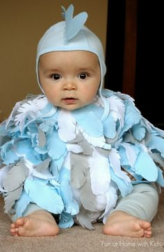 DIY No Sew Baby Chicken Halloween Costume  from Fun at Home with Kids