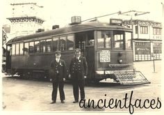 """""""Picture perfect"""" image of a San Francisco Streetcar in 1923 that ran from Embarcadero to the famous Sutro Baths, the Cliff House Restaurant, and then to Seal Rocks. Learn more:  http://www.ancientfaces.com/research/photo/413604/san-francisco-streetcar-1923-family-photo"""