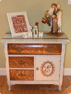 Dumpster Dive ReDo antique dresser @ ReMarkableHome.net