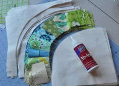 sewing curves, using glue instead of pins  (tips on the single girl quilt)