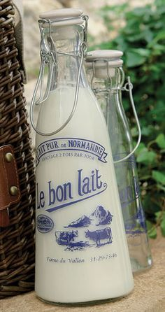Vintage French Milk Bottle