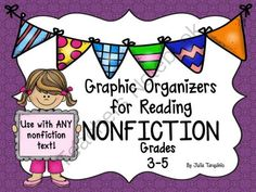 11 Graphic Organizers for ANY Nonfiction Text! from TeacherJuliasResources on TeachersNotebook.com -  (11 pages)  - This is a set of 11 reproducible student activity graphic organizer sheets that can be used with any nonfiction text.
