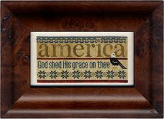 Erica Michaels - America (with fabric) [EMD131381] - $18.00 : Laurels Stitchery, The best little stitchery shop on the internet!