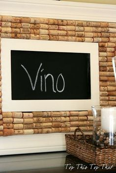 creative cork board idea