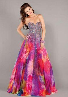 Tye Dyed Prom Dresses - Long Dresses Online