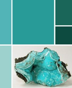 Aquamarine color palette