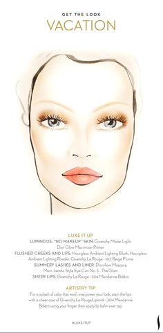 Get the Look: Vacation. How do you #LuxeItUp? #Sephora #Givenchy #Hourglass #Dior #MarcJacobs #beauty #makeuptutorial