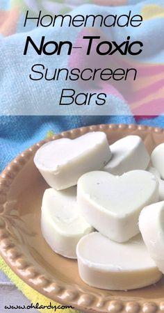 Homemade Non-Toxic Sunscreen Bars - www.ohlardy.com