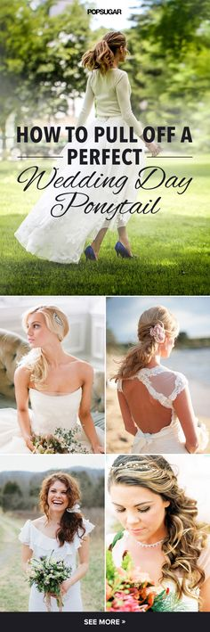 These ponytails are chic enough for your #wedding day.