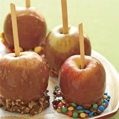 Caramel Apples Recipe - How To Make Candy and Caramel Apples - Delish.com