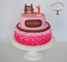 First Birthday Owl Cake
