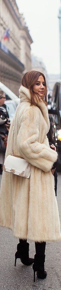 Chic In The City- Chanel - ~LadyLuxury~ white mink