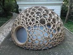Cardboard circl, toilet paper tubes, dog houses, cat houses, cardboard art, project ideas, children play, cardboard tubes, art projects