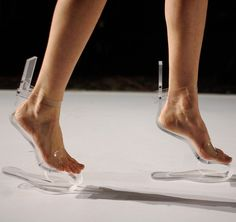 Cool shoes - these make you look like you are walking in the air.