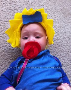 Adorable Maggie Simpson Baby Halloween Costume… Coolest Halloween Costume Contest