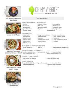 Weekly Vegetarian Meal Plan