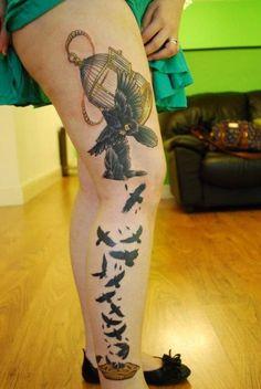 #leg #birds #blackbirds #leg #birds #blackbirds #baked #pie #tattoo #inked