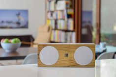 Soundfreaq Double Spot wireless speaker: Love the mid century mod design, and great price.
