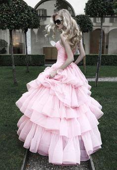 Marshmallow bodice dress