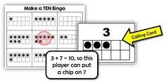 Math Coach's Corner: Make a Ten Bingo.  Ten frame representations support students as they learn their combinations for ten in the fun whole class game!  Includes 30 different boards. $