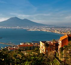 Bay of Naples and mount Vesuvius, Italy