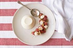 Almond Milk Panna Cotta w/ Rasperry andGinger