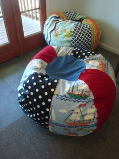 Homemade beanbag pillow for kids