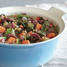 Lentil Stew with Smoked Turkey and Sweet Potatoes
