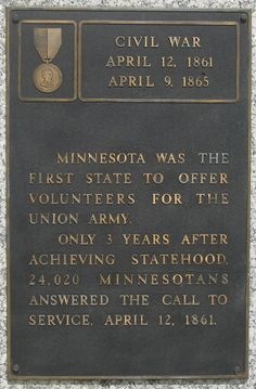 The 1st Minnesota Volunteer Infantry Regiment was the first unit from any state pledged to fight for the Union. As part of the Army of the Potomac, the 1st took part in many significant battles and campaigns including Bull Run, the Peninsula Campaign, Antietam, and Gettysburg.The Battle of Gettysburg was the 1st Minnesota's finest hour, where it made a heroic charge that helped secure the Union victory. The regiment suffered heavy losses as a result.