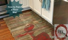 How to paint a floormat
