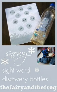 Winter Word Discovery Bottle from The fairy and the frog