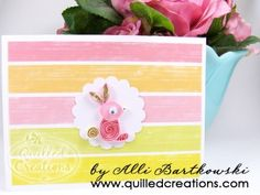 simple cute little quilled bunny, may try this for easter cards this year, made by quilled creations ali