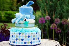 All Diaper Cakes - Its a Boy 3 Tier Diaper Cake, $112.95 (http://alldiapercakes.com/its-a-boy-3-tier-diaper-cake/)
