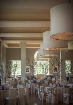Gorgeous #Ballroom #Wedding with a Neutral Color Palette. To see more wedding trends: www.modwedding.com