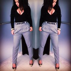 Olivia's OOTD: pants & leotard from American Apparel,  shoes from Zara. #Jerseylicious