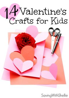 14 Easy Valentine's Day Crafts for Kids. You'll love making these fun projects with the little ones. Spread some love this Valentine's Day. #Valentine