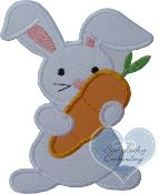 Bunny and Carrot (Applique) embroidered patch
