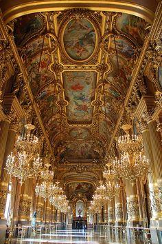 foyers, mirrors, paris travel, palai garnier, architecture interiors, luxury travel, pari opera, opera house, place