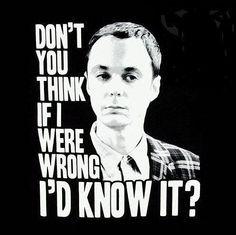 Sheldon Cooper is always right