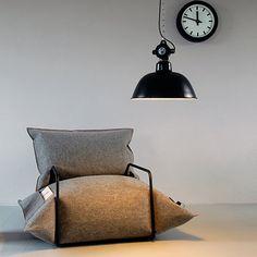 Wool & Air Armchair by MALAFOR