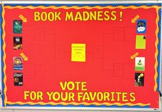 High School English Book Madness Basketball March Madness bulletin board