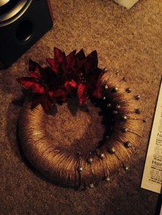 Christmas wreath. Red and glittery Christmas Wreath http://www.hobbycraft.co.uk