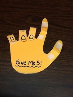 Word Nerd Speech Teach: Give Me Five!