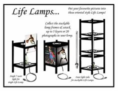 I designed Life Lamps so that families could insert their own photographs and create a unique lamp.