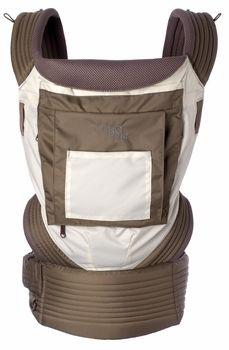 Onya Baby Outback Baby Carrier, Turns into a seat for baby!! Chocolate Chip/Ivory